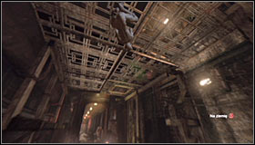 After reaching the area marked as the Trophy location, look up #1 and use the Ceiling Climb skill by pressing RB to stick onto the metal construction #2 - Catwoman trophies | Subway - Subway - Batman: Arkham City Game Guide