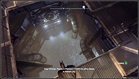 After reaching the Arkham City Processing Center, use the Electrical Charge to open the nearby door #1 - Batman trophies (01-09) | Bowery - Bowery - Batman: Arkham City Game Guide