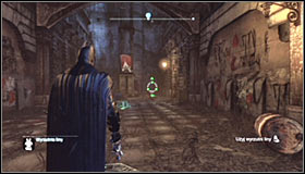 Shoot a line and right after starting the ride hold down the left trigger to slow down - Batman trophies (01-09) | Bowery - Bowery - Batman: Arkham City Game Guide