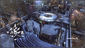 The Trophy can be found on the roof which is guarded by armed enemies, i - Batman trophies (10-21) | Bowery - Bowery - Batman: Arkham City Game Guide