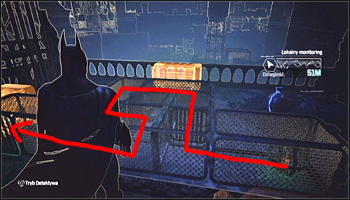 After reaching the destination, take some time to familiarize yourself with the assumptions of this puzzle - Batman trophies (22-30) | Bowery - Bowery - Batman: Arkham City Game Guide