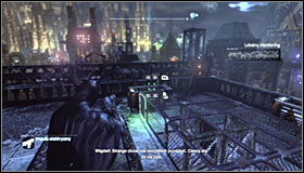 Start off by standing on the pressure plate #1 - Batman trophies (22-30) | Bowery - Bowery - Batman: Arkham City Game Guide
