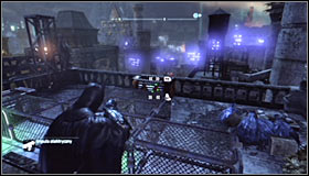 Push the sphere left and note that is has stopped by the blockade #1 - Batman trophies (22-30) | Bowery - Bowery - Batman: Arkham City Game Guide