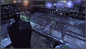 This time the sphere should roll to the upper part of the steel construction #1 - Batman trophies (22-30) | Bowery - Bowery - Batman: Arkham City Game Guide