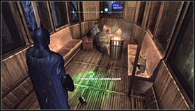 Approach the hacking mini-game and create the password #1 - Batman trophies (22-30) | Bowery - Bowery - Batman: Arkham City Game Guide
