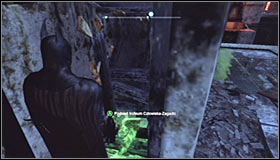 Turn on the Detective Mode, thanks to which you will note that the wooden obstacle can be destroyed with the Explosive Gel #1 - Batman trophies (31-39) | Bowery - Bowery - Batman: Arkham City Game Guide
