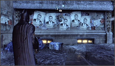 Find the Bruce Wayne wanted posters (screen above) and scan them - Riddles - Bowery - Batman: Arkham City - Game Guide and Walkthrough