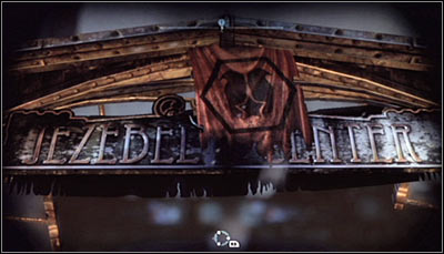 Zoom in on the JEZEBEL CENTER sign (screen above) and scan it - Riddles | Bowery - Bowery - Batman: Arkham City Game Guide