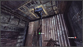 Look up #1 and use the Ceiling Climb ability by pressing RB to stick onto the steel construction - Catwoman trophies | Bowery - Bowery - Batman: Arkham City Game Guide