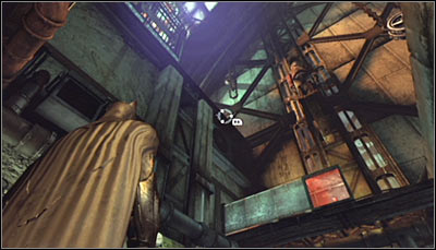 Start in the Assembly Line, standing south-west of where the Trophy is hidden - Batman trophies (01-15) | Steel Mill - Steel Mill - Batman: Arkham City Game Guide