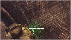 You need to swing the hook enough for it to hit the big fan on the southern wall #1 - Batman trophies (16-24) | Steel Mill - Steel Mill - Batman: Arkham City Game Guide