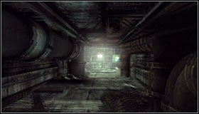 Go down, turn south and note that moving the cars has led to unlocking the ventilation shaft entrance #1 - Batman trophies (16-24) | Steel Mill - Steel Mill - Batman: Arkham City Game Guide