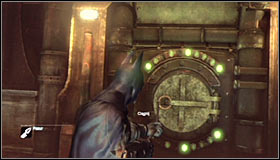 Stat off nearby where the Trophy is hidden, searching for an interactive hatch #1 - Batman trophies (16-24) | Steel Mill - Steel Mill - Batman: Arkham City Game Guide