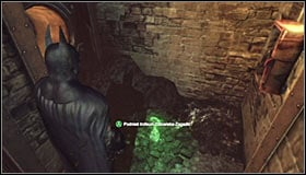 Note that the grate that has been blocking access to the Trophy is now raised #1 - Batman trophies (16-24) | Steel Mill - Steel Mill - Batman: Arkham City Game Guide