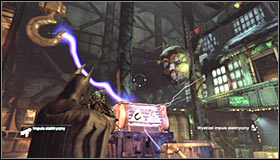 Start off in the main room of the Loading Bay, north-east of the Trophy - Batman trophies (16-24) | Steel Mill - Steel Mill - Batman: Arkham City Game Guide