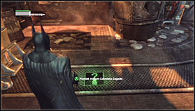 Use the magnet to move the car #1, therefore unlocking access to the Trophy #2 - Batman trophies (16-24) | Steel Mill - Steel Mill - Batman: Arkham City Game Guide