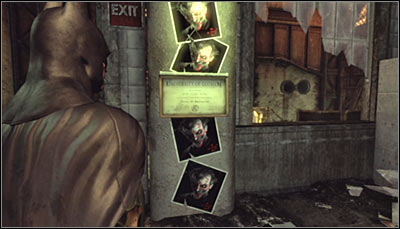 Find Jokers photos and the Gotham University diploma (screen above) and scan them all in one go - Riddles | Steel Mill - Steel Mill - Batman: Arkham City Game Guide