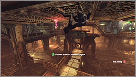 Take a look around for the Trophy which is attached to the balcony #1 - Catwoman trophies | Steel Mill - Steel Mill - Batman: Arkham City Game Guide