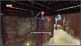 Now use the Ceiling Climb skill by pressing the right trigger - Catwoman trophies | Steel Mill - Steel Mill - Batman: Arkham City Game Guide