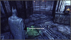 Head north and afterwards turn right #1 - Batman trophies (11-23) | Museum - Museum - Batman: Arkham City Game Guide