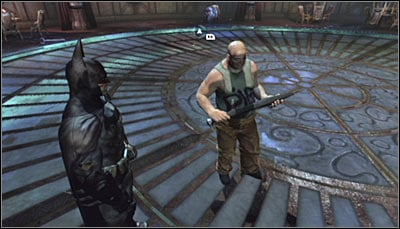 Stand beside one of the saved undercover officers (screen above) and scan him - Riddles | Museum - Museum - Batman: Arkham City Game Guide