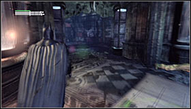 Stand in the middle part of the War Room and head north-west - Riddles | Museum - Museum - Batman: Arkham City Game Guide