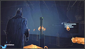 If you sail towards the spot marked by the game and turn on the Detective Mode, you should note an incomplete question mark #1 - Riddles | Museum - Museum - Batman: Arkham City Game Guide