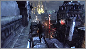 Move forward a bit and crouch once again #1 to be able to move on - Climb to the top of the ACE Chemical building to collect your equipment | Main story - Main story - Batman: Arkham City Game Guide