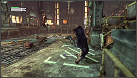 As the battle starts, focus on eliminating the regular enemies first #1 - Break into Jokers office in the Loading Bay | Main story - Main story - Batman: Arkham City Game Guide