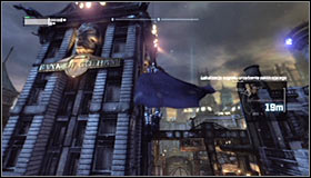 If you want to be sure you will be able to safely evacuate after each attack, you can consider using the smoke pellets #1, though you could also just use the Grapnel Gun to quickly return onto vantage points #2 or the roofs of the nearby buildings - Disable Penguins Communications Disruptors | Main story - Main story - Batman: Arkham City Game Guide