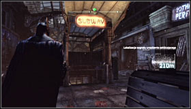 The entrance area is patrolled by a few Thugs armed with firearms, though you don't need to eliminate them - Disable Penguin's Final Communications Disruptor underground - Main story - Batman: Arkham City - Game Guide and Walkthrough