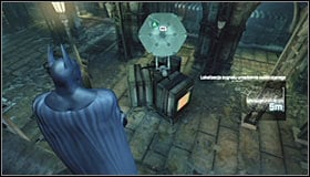 Surprising enemies from above #1 is rather risky, as the small size of the room makes it easy for other enemies to notice you after you attack a given thug - Disable Penguin's Final Communications Disruptor underground - Main story - Batman: Arkham City - Game Guide and Walkthrough
