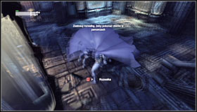 If you have chosen to get onto the upper ledge, you will now be able to attack the enemies by surprise #1 - Rescue Mister Freeze from Penguin in the Museum (part 2) | Main story - Main story - Batman: Arkham City Game Guide