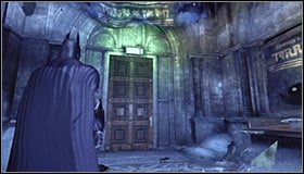 Head north and on your way you will come across one more weak wall #1 on which you have to use the explosive gel - Rescue remaining undercover GCPD officers in the Museum | Main story - Main story - Batman: Arkham City Game Guide
