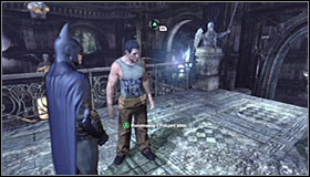 Note that the thug holding the hostage at gunpoint sometimes turns around with him - Rescue remaining undercover GCPD officers in the Museum | Main story - Main story - Batman: Arkham City Game Guide