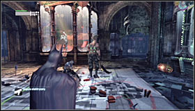 During the first part of the fight its of course worth to take care of the normal enemies #1, at the same time avoiding the boss attacks - Rescue remaining undercover GCPD officers in the Museum | Main story - Main story - Batman: Arkham City Game Guide