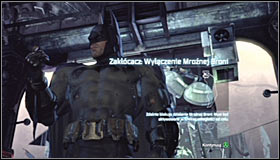 Once again use the ladder and follow the passage into the Armory - Collect the security override from Freeze's suit to disable the Freeze Gun - Main story - Batman: Arkham City - Game Guide and Walkthrough