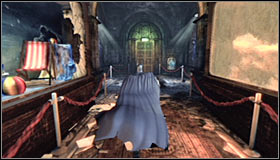 Now you can finish going west and afterwards use the Grapnel Gun to reach the upper balcony #1 - Confront Penguin in the Iceberg Lounge - Main story - Batman: Arkham City - Game Guide and Walkthrough