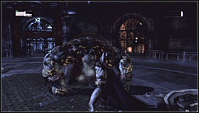 Just like before, you have to use the Explosive Gel on the generators #1 and afterwards detonate the planted charges - Defeat Solomon Grundy | Main story - Main story - Batman: Arkham City Game Guide