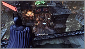 Before you is a well-known type of mission during which you will have to reach the assassin hideout by following the hints displayed on-screen - Follow assassin using tracer device to locate Ra's al Ghul - Main story - Batman: Arkham City - Game Guide and Walkthrough