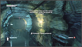 You should reach a tunnel with a big abyss - Follow assassin using tracer device to locate Ras al Ghul | Main story - Main story - Batman: Arkham City Game Guide