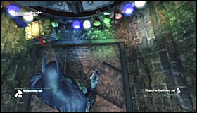 After safely landing on the proper ledge head south #1, walking below another partially raised gate on your way - Follow assassin using tracer device to locate Ras al Ghul | Main story - Main story - Batman: Arkham City Game Guide