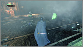 Blowing up the floor will of course alarm the thugs, so you wont be able to surprise them - Follow assassin using tracer device to locate Ras al Ghul | Main story - Main story - Batman: Arkham City Game Guide