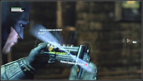 After youre done with them, take out the Cryptographic Sequencer and use it to hack into the nearby control panel #1 - Follow assassin using tracer device to locate Ras al Ghul | Main story - Main story - Batman: Arkham City Game Guide