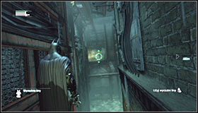 13 - Follow assassin using tracer device to locate Ras al Ghul | Main story - Main story - Batman: Arkham City Game Guide