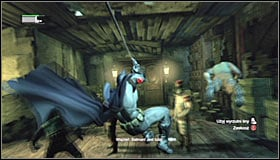 14 - Follow assassin using tracer device to locate Ras al Ghul | Main story - Main story - Batman: Arkham City Game Guide