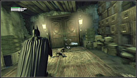 Look out the armoured enemy, stun him before attacking - Follow assassin using tracer device to locate Ras al Ghul | Main story - Main story - Batman: Arkham City Game Guide