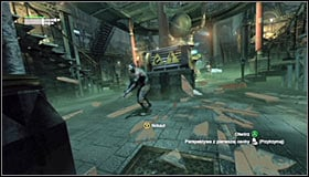 There are five enemies left to take care of and you can do it in any way you like - Follow assassin using tracer device to locate Ras al Ghul | Main story - Main story - Batman: Arkham City Game Guide