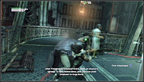 Unfortunately, just like before, you have to take into account that one of the enemies might at some point panic and take Fiona Wilson - the nurse - as hostage - Follow assassin using tracer device to locate Ras al Ghul | Main story - Main story - Batman: Arkham City Game Guide