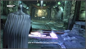 Wait for Batman to pull it together and approach the first gate - Follow assassin using tracer device to locate Ra's al Ghul - Main story - Batman: Arkham City - Game Guide and Walkthrough